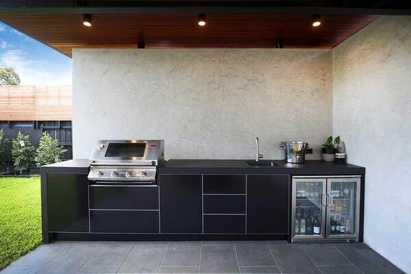 Beefeater Signature 4 Burner BBQ Dekton Sirius Matte Black Outdoor Kitchen Hampton Melbourne 6