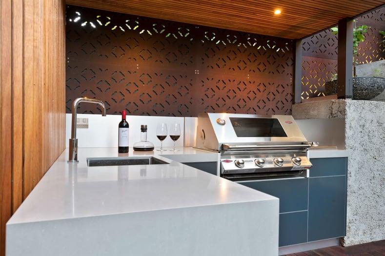 Beefeater Signature 3000SS Matte Steel Grey Corian Ash Concrete Outdoor Kitchen Ascot Vale 3 (Custom)